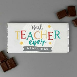 Personalized Best Teacher Ever Mill Chocolate Bar